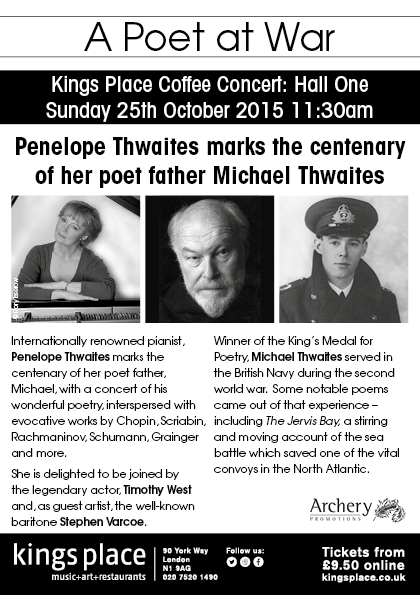 A Poet at War - Penelope Thwaites and Timothy West 25 Oct 2015